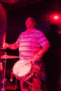 Rebirth Brass Band drummer
