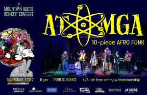 Mountain Roots Benefit ft Atomga Poster